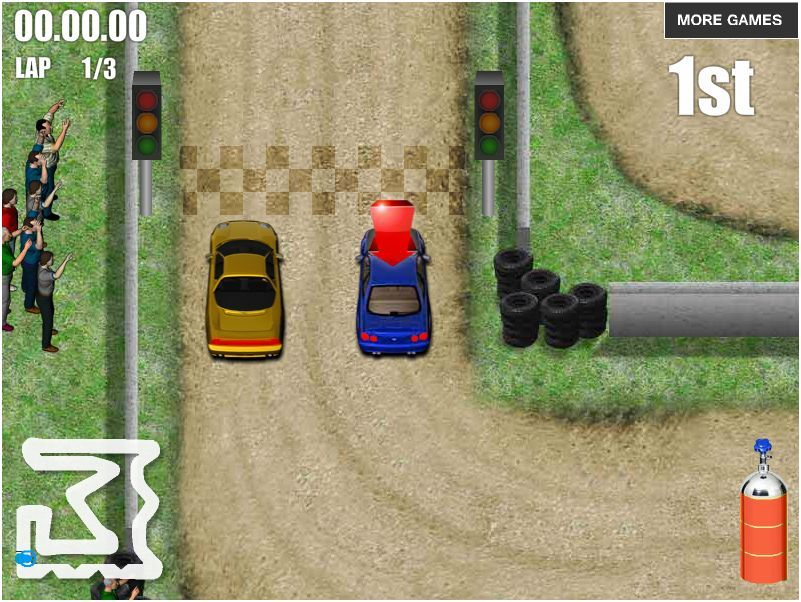 Play game Clutch Burn Racing Flash free online games - Faxo