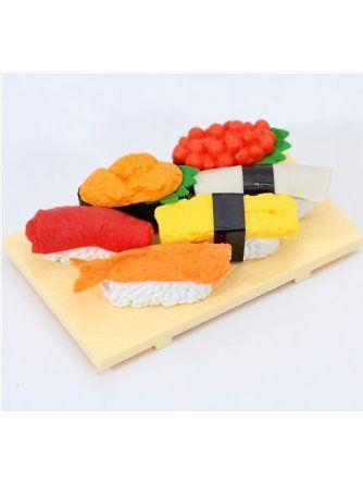 Iwako erasers Sushi Japan 6 pieces set ❤ Iwako