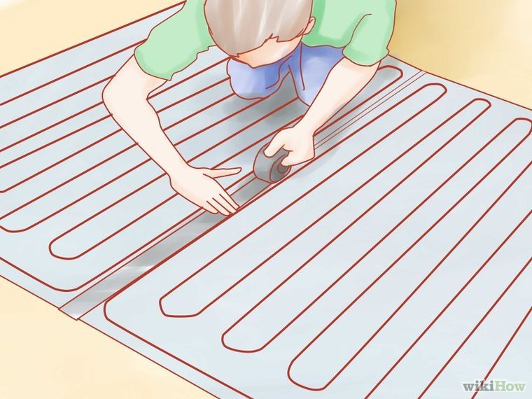 Install Electric Radiant Heat Mat Under A Tile Floor Radiant Heat