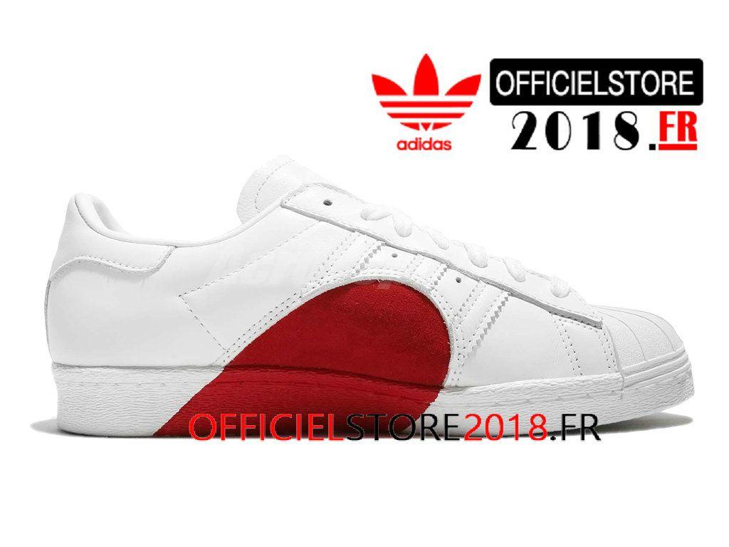 adidas superstar blanche et rouge pas cher