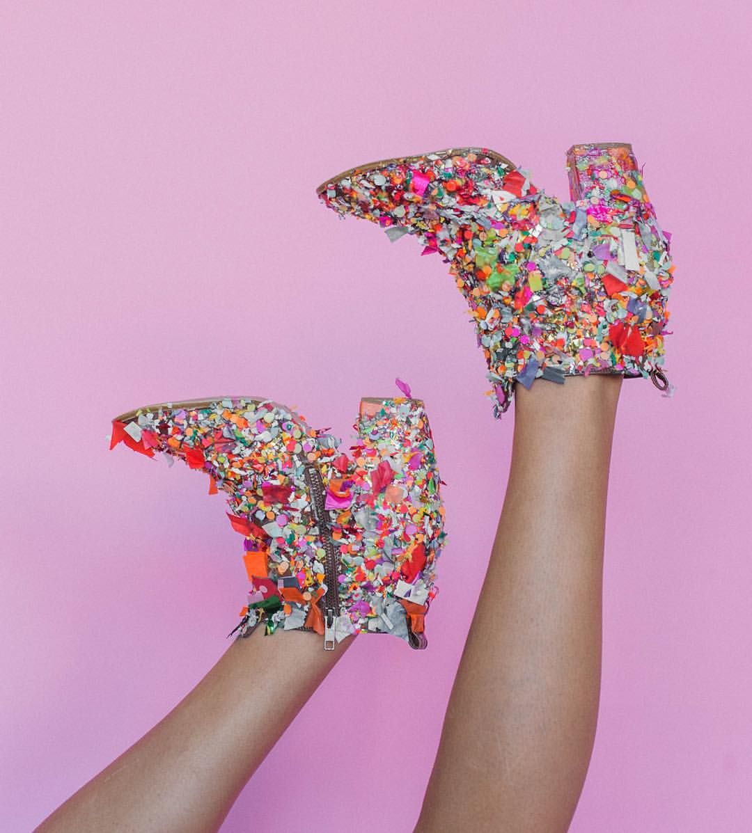 Confetti Boots DIY From Thimble Press Blog, The Thread, Up
