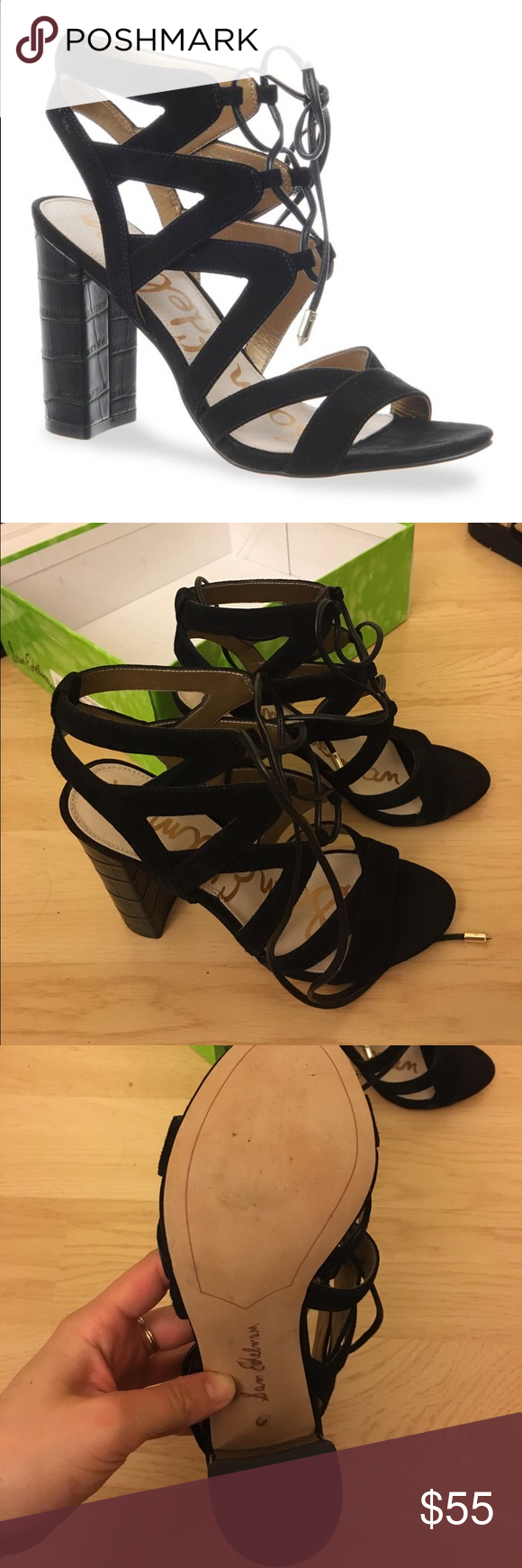 BRAND NEW Sam Edelman yardley size 6 Sam Edelman yardley in black suede. Never worn. Come with box. NEW. PERFECT CONDITION. Sam Edelman Shoes Sandals