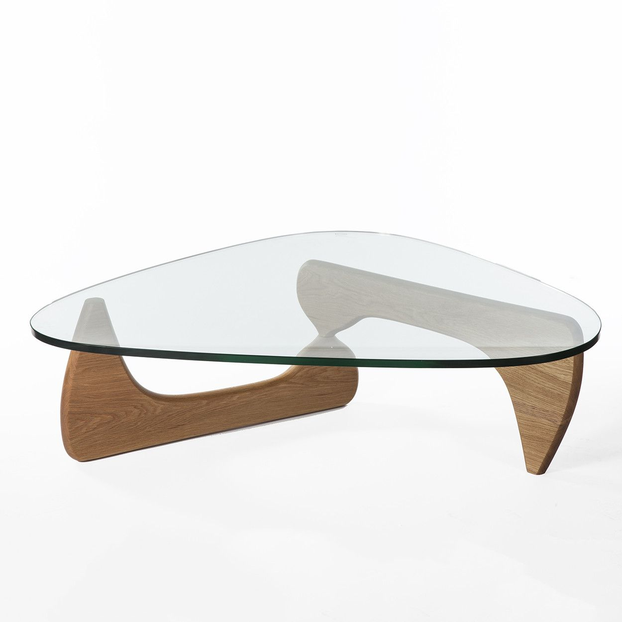 Mid Century Modern Reproduction Noguchi Coffee Table   Oak Inspired By  Isamu Noguchi