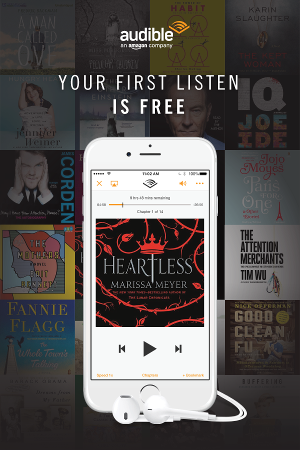 Try Audible with a FREE audiobook of your choice! Experience