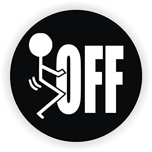 Fk off hard hat sticker decal label tool lunch box helmet
