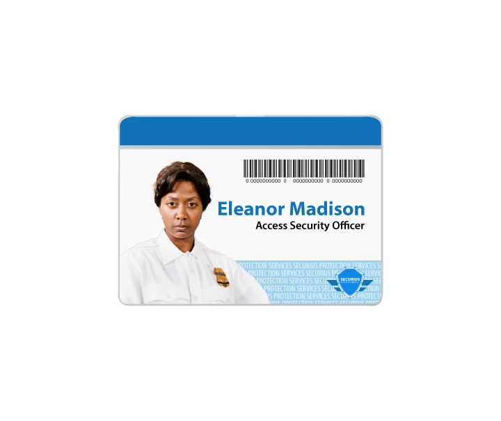 Security Guard Id Badge Template Horizontal Xpressid Badge Template Id Badge Badge