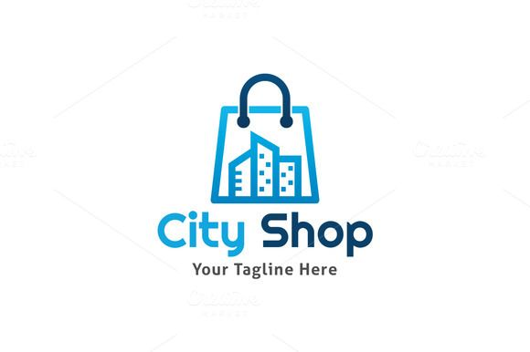 a78d901231b6 City Shop Logo by Martin-Jamez on Creative Market Logo Online Shop