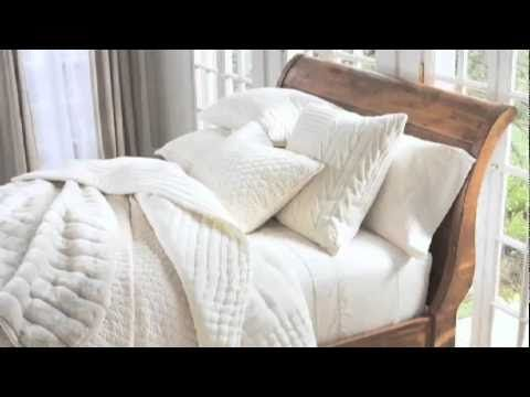 In case you want to give your bedroom a delicate and soothing look white linen bedding style is probably the best choice. In this Pottery Barn video ... & Create a classic look and a spa-like feel in your bedroom with ... pillowsntoast.com