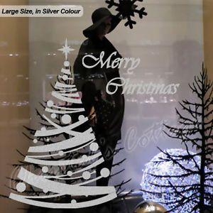 Autocollant mural d coration pois grand large arbre de for Decoration fenetre electrostatique noel