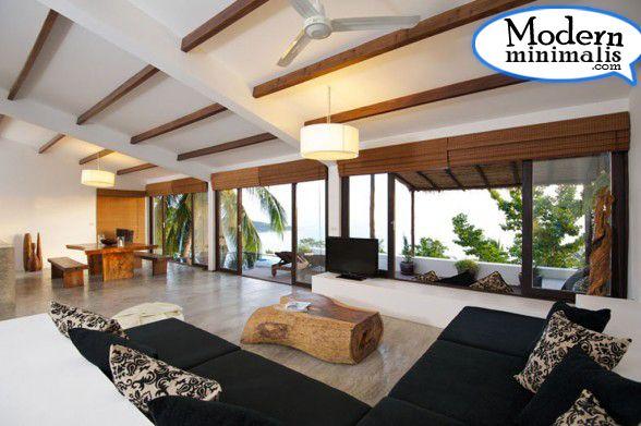 Comfortable Tropical Villa Living Room Tropical Interior Design
