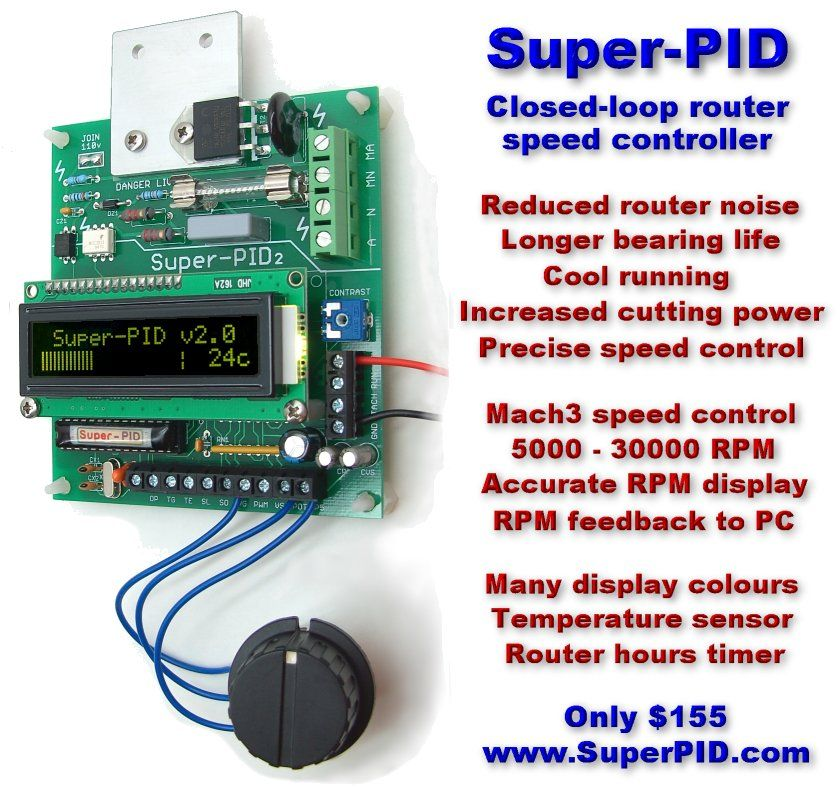 Super-PID v2 Closed loop Router Speed Controller | cnc | Cnc spindle