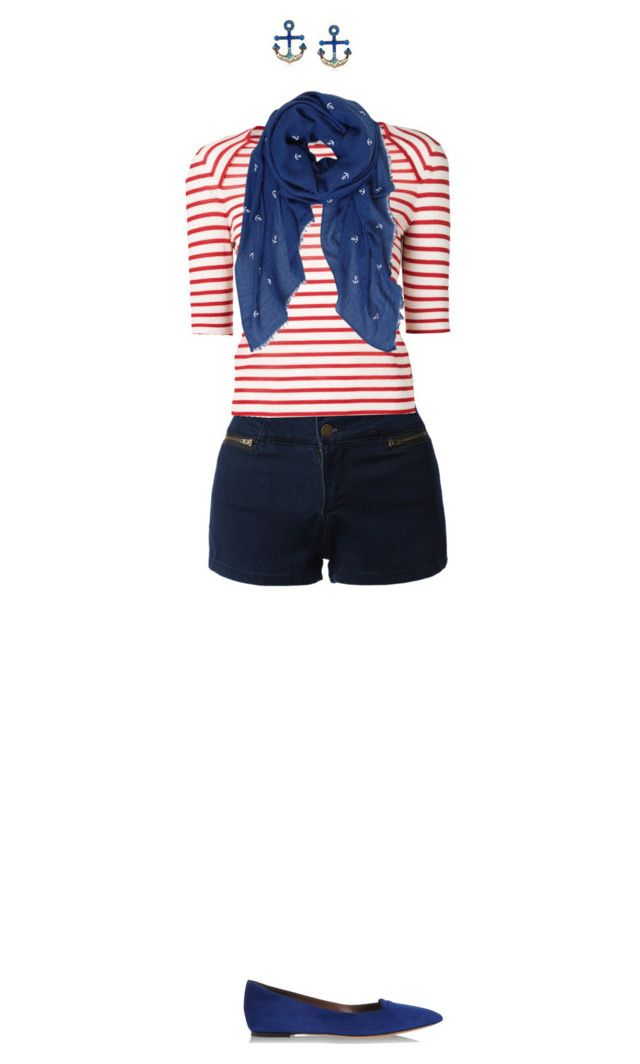"""""""Dinner on the dock: sailors casual"""" by serenagaylord ❤ liked on Polyvore featuring LE3NO, Yves Saint Laurent, Tabitha Simmons, Betsey Johnson and Humble Chic"""