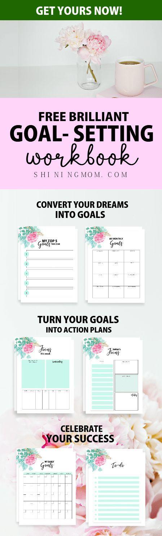 Free  Goal Setting Planner  Brilliant Worksheets  Goal