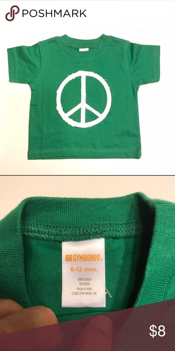 NWT Green Peace Sign Shirt Gymboree 6-12m Awesome shirt!!! New with tag! Gymboree Shirts & Tops Tees - Short Sleeve