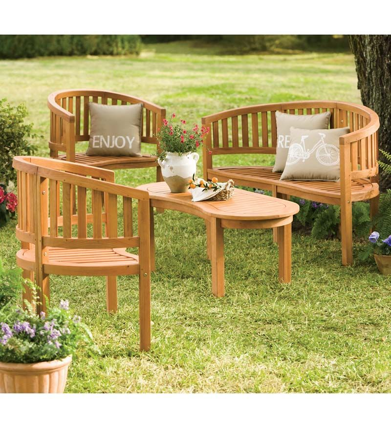 Our Best Quality Abbey Collection Of Outdoor Eucalyptus Furniture Features  Thick, Substantial Wood In A .