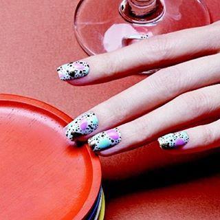 #80spattern #nails #aritaum #unistella