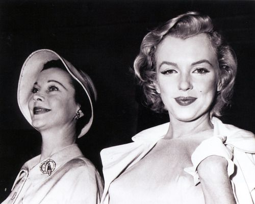 with Vivien Leigh, 1956