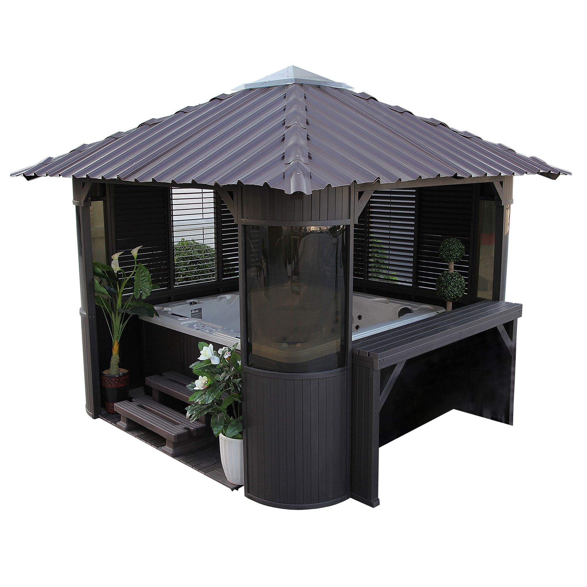 Canadian Spa Frazer Freestanding Gazebo With Embly Service Departments Diy At B Q
