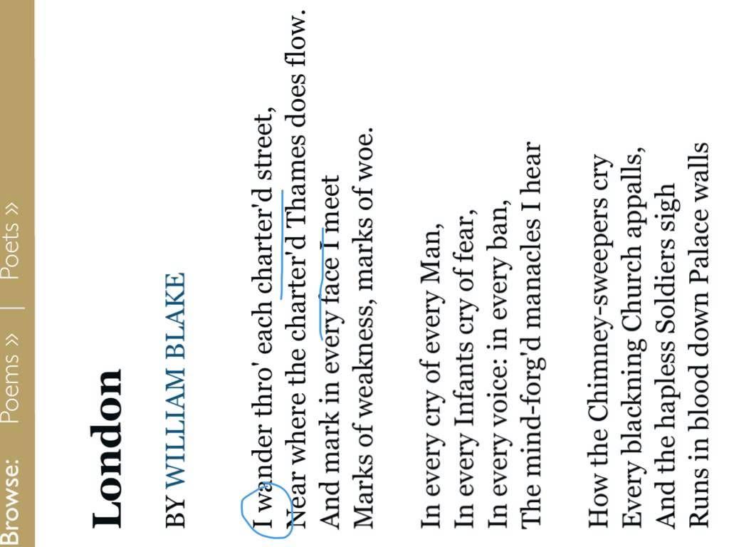 London William Blakeysis Aqa Poetry