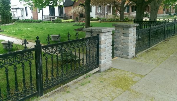 Fence Ideas Iron Fence Brick Columns Backyard Fences