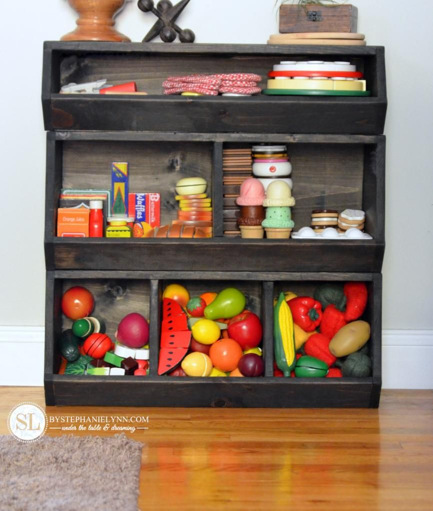 Build a toy storage bin playrooms countertop and for Kitchen countertop storage solutions