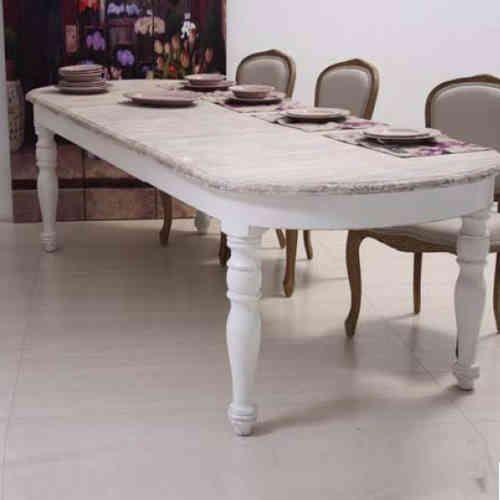 Tavolo ovale bianco shabby chic allungabile mobili etnici ...