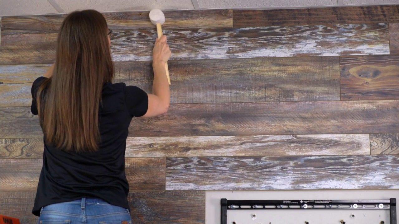 Pin Von Diane B Auf Home Decorating, How To Install Laminate Wood Flooring On Walls