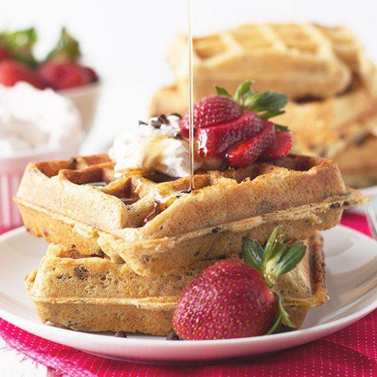 Strawberry Chocolate Chip Waffles