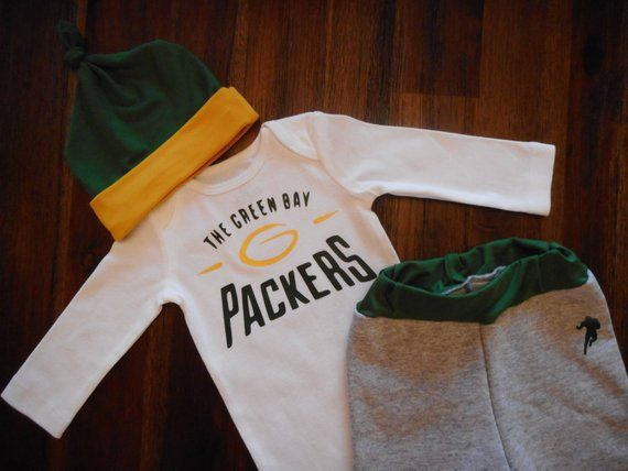 Green Bay Packers Baby Outfit Packers Baby Wisconsin Baby Packers