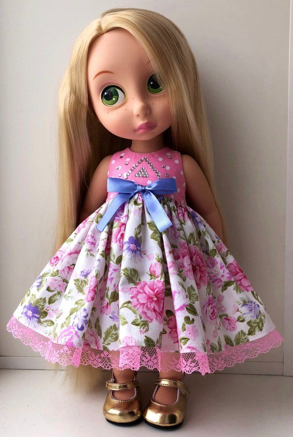 Items similar to MADE TO ORDER - Clothes for Disney Animator, Disney Animator  Doll Dress, Flower Doll Dress on Etsy #dolldresspatterns