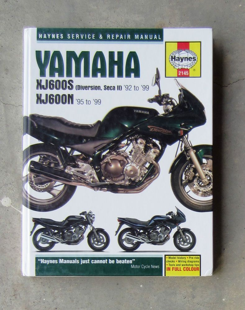 YAMAHA XJ600 - Workshop Repair Service Haynes Manual XJ 600 DIVERSION SECA  XJ6 #Haynes #
