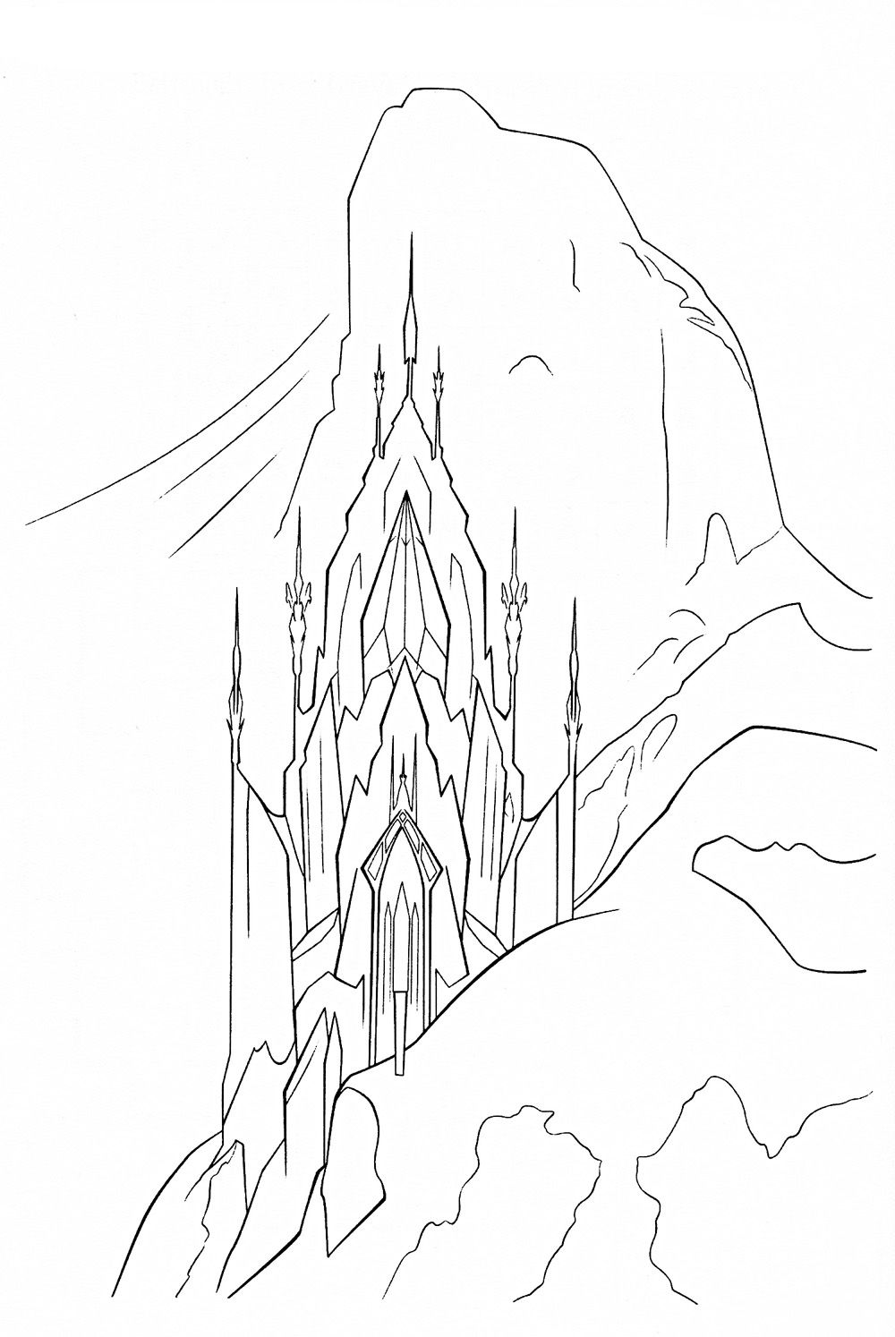 coloring page frozen palace elsa | Books Worth Reading | Pinterest