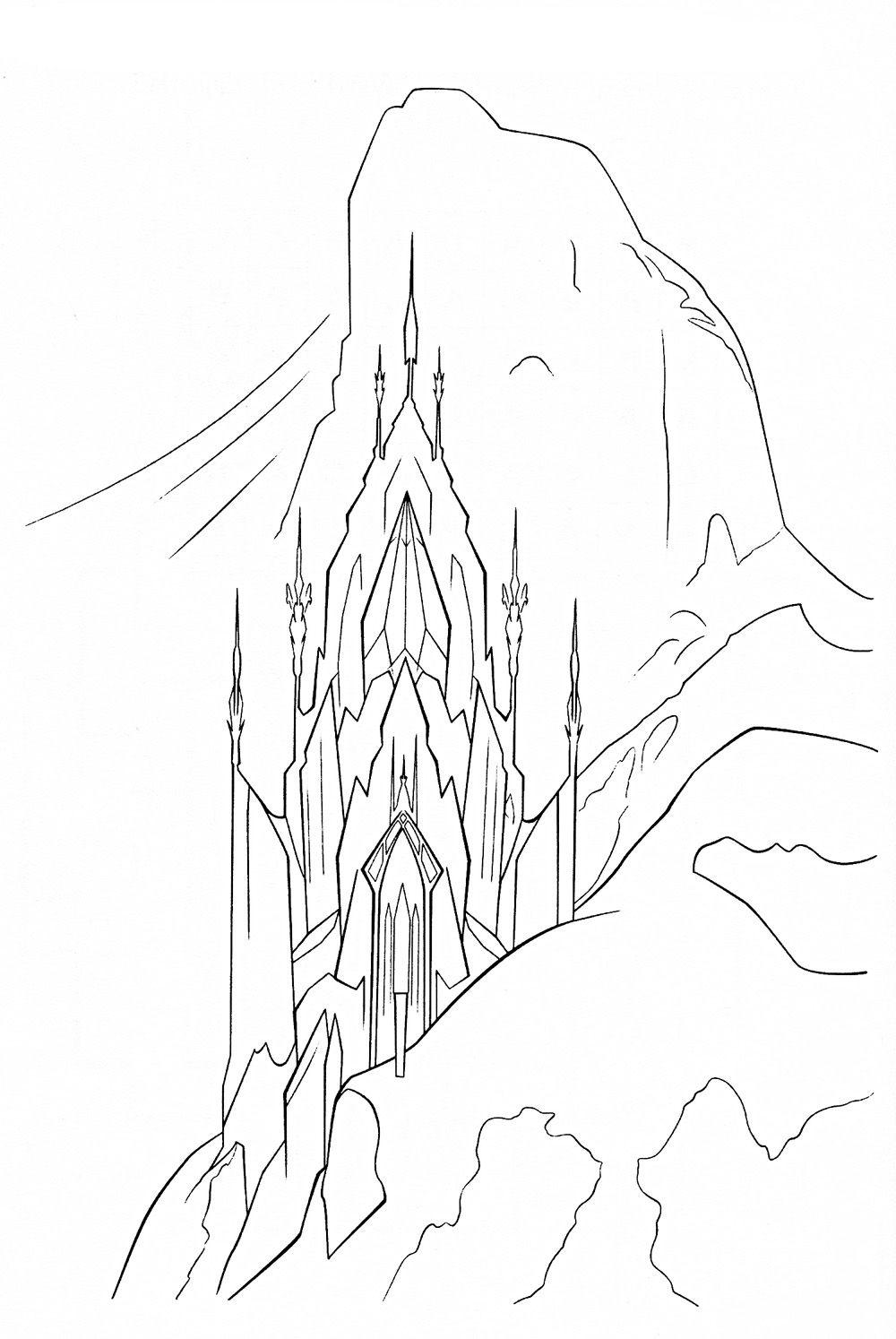 coloring page frozen palace elsa Coloring pages Pinterest