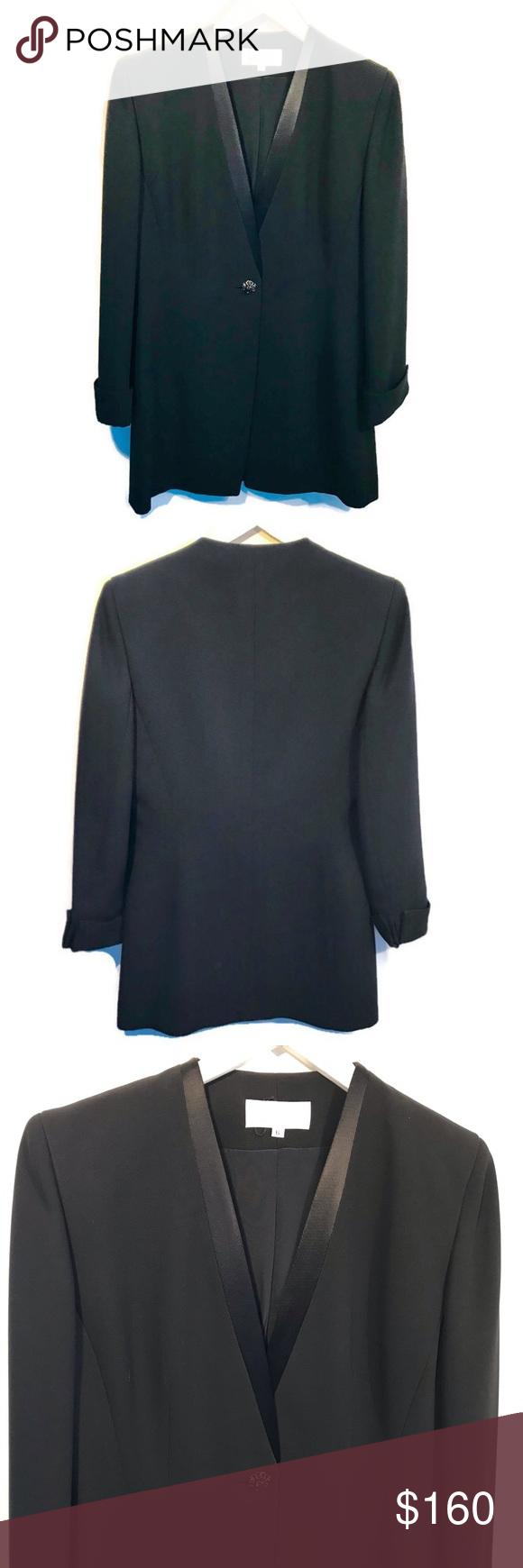 Badgley Mischka Black Tuxedo Jacket Dress Jacket Like New Worn Once Badgley Mischka Black Women S Tuxedo Jacket Fancy Suit Jacket Dress Black Tuxedo Jacket [ 1740 x 580 Pixel ]