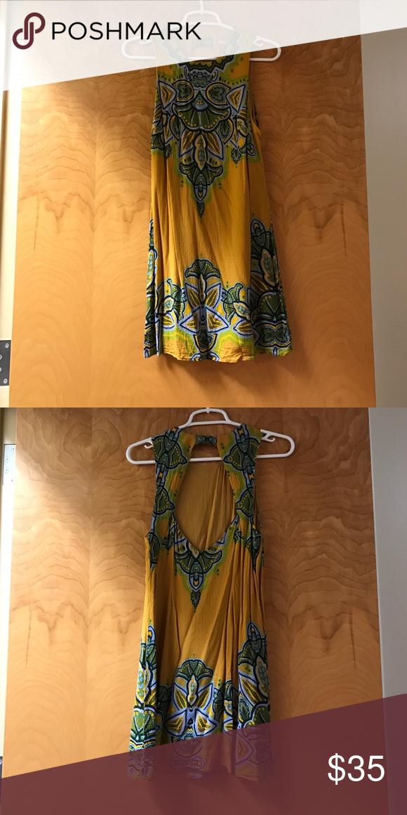 Short open back day dress! Open back | 60s style, Light orange and ...