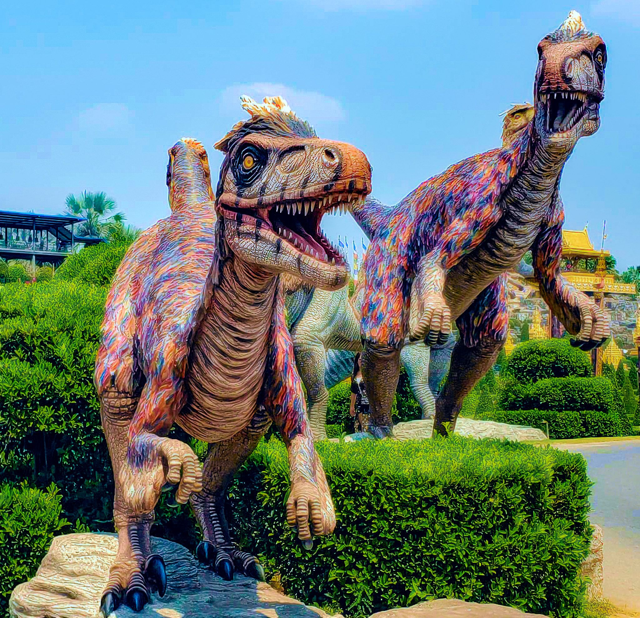 Utahraptor Nong Nooch Dinosaur Valley in 2020 Valley