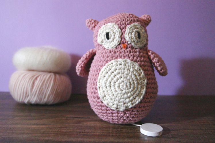 diy crochet chouette musicale berceuse