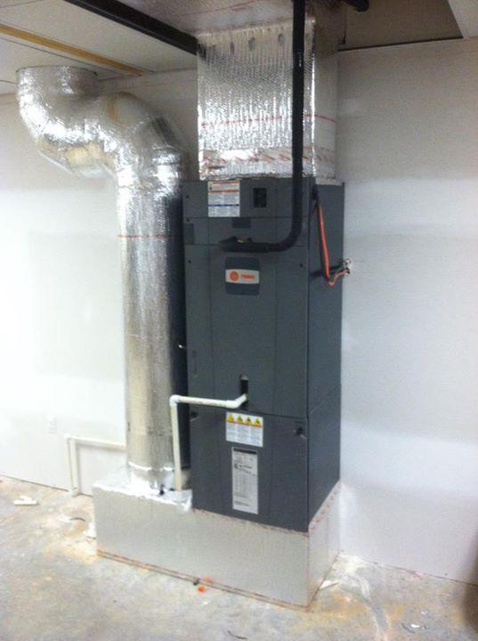 Lovely Heat Pump In Basement