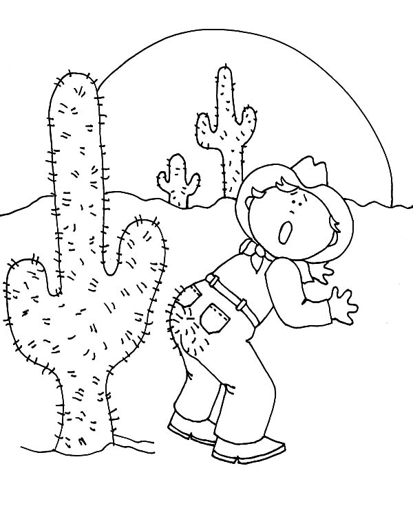 Desert Cactus Coloring Pages