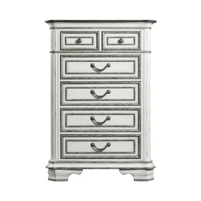 House Of Hampton Newsom 6 Drawer Chest 6 Drawer Chest White Chests Chest Of Drawers