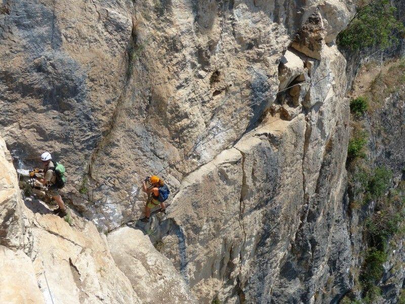 Klettersteig Leiter : Klettersteige am gardasee: für könner: via attrezzata monte