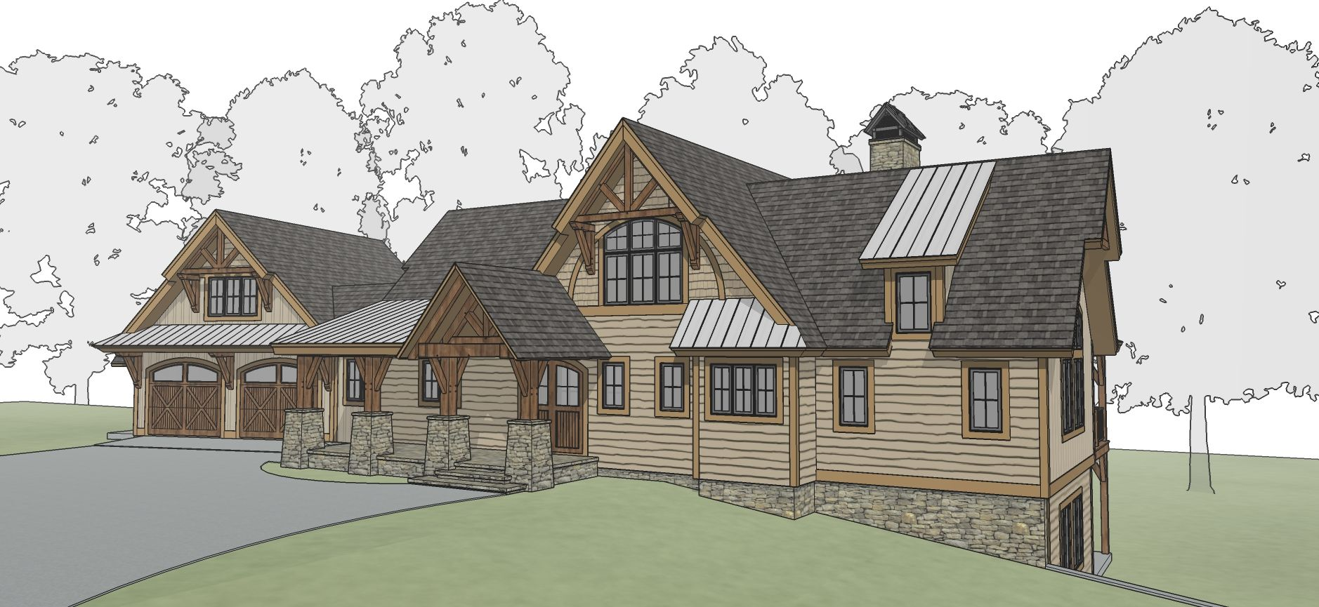 Pine Ridge Timber Frame Floor Plan By Mill Creek