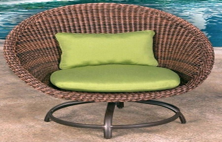Remarkable Large Artificial Wicker Outdoor Chair Patio Outdoor Gmtry Best Dining Table And Chair Ideas Images Gmtryco