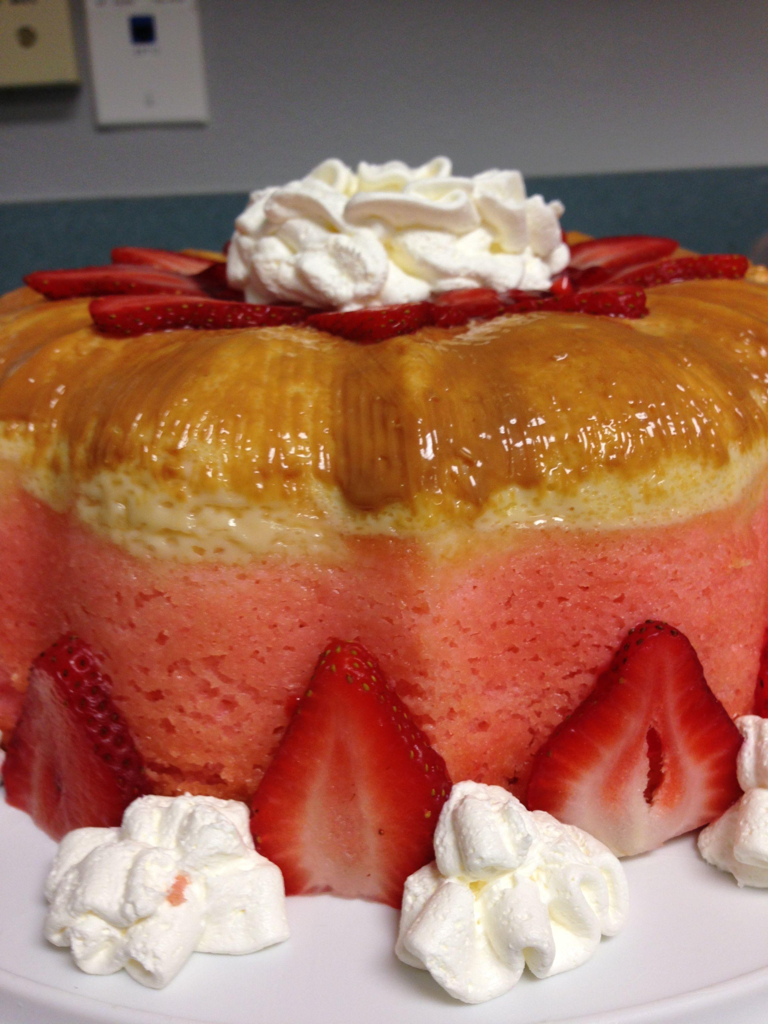 Strawberry Flan Cake Flan Pinterest Flan Kuchen Flan Und Kuchen