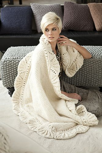 #10 Lace Edge Blanket by Veronica Manno  © Vogue Knitting/Rose Callahan