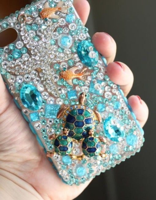 Under the Sea bedazzle phone case for iPhone 4 or 4s but can be made for  any phone model! 1d614927b4