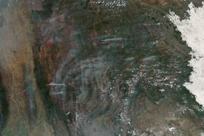 Fires in Southeast Asia : Image of the Day : NASA Earth Observatory