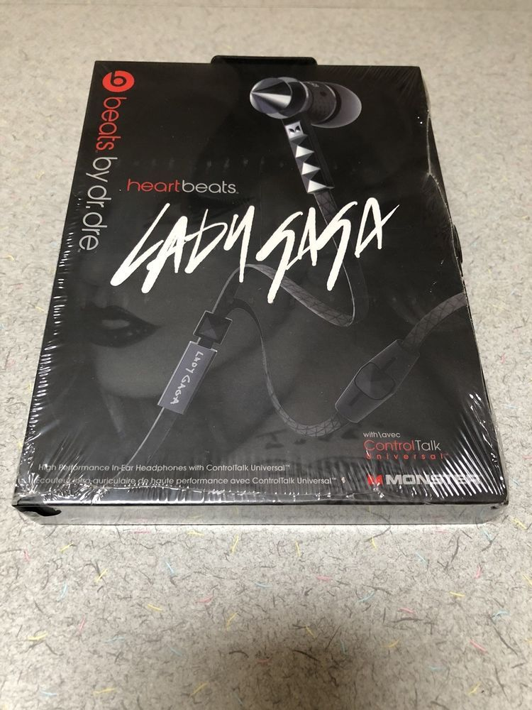 Beats by Dr. Dre Heartbeats by Lady Gaga In-Ear Headphones - Black New  (eBay Link) 281dca65be