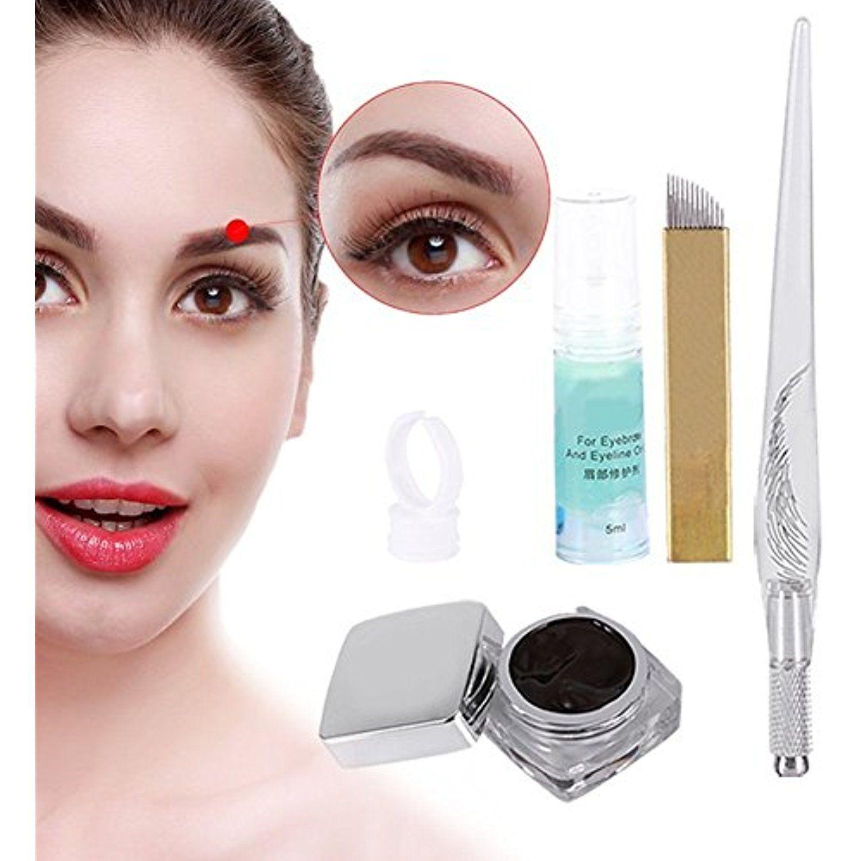 Permanent Makeup Kit Tattoo 3D Eyebrow Pen Machine Tattoo