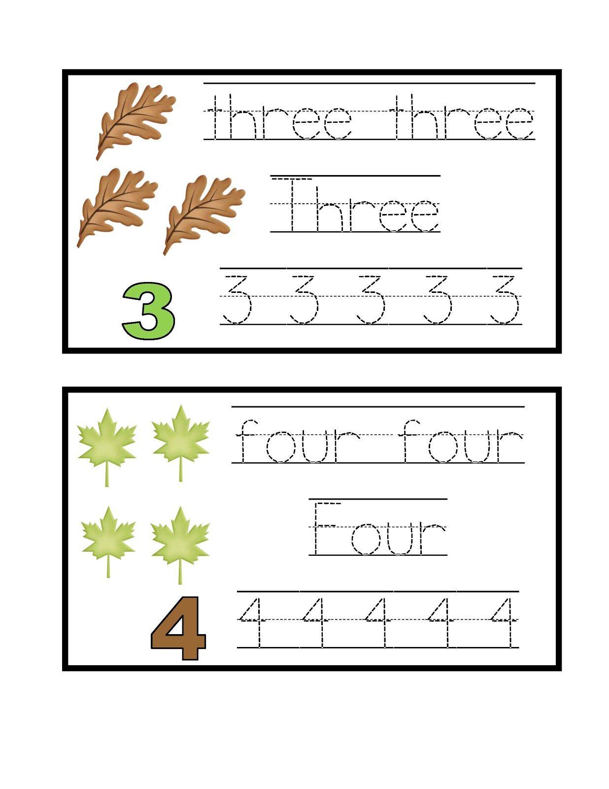 Preschool Printables Leaves